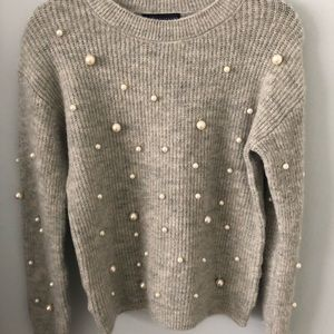 M&S sweater with pearls